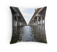 Between Bridges Throw Pillow