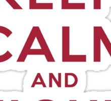 Keep Calm and Fight On (Cardinal Letters) Sticker