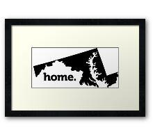 Maryland Home Framed Print