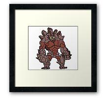 Malphite League of Legends Art Framed Print