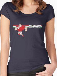 G I JONES Women's Fitted Scoop T-Shirt