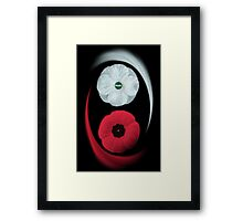 POPPIES ~ PEACE & REMEMBRANCE GO TOGETHER UNITED WE STAND PICTURE/CARD Framed Print