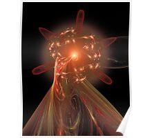 'Plasma Flower' Poster