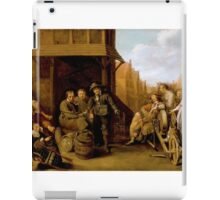 Jacob Duck - A Street Scene with Knife Grinder and Elegant Couple iPad Case/Skin
