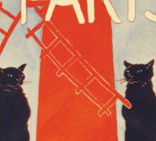 About Paris - classic vintage poster design Sticker