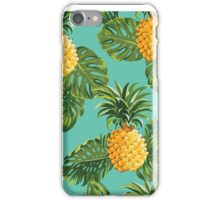 Retro Pineapples Tropical Style iPhone Case/Skin