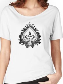 ACE black Women's Relaxed Fit T-Shirt