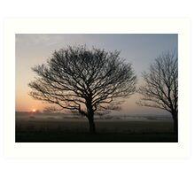 Sunset over Gloster Hill Art Print