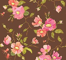 Roses Background in Retro Style by Anna Sivak