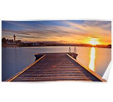 Sunset over the jetty Poster