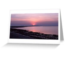Sunset in Trang Greeting Card