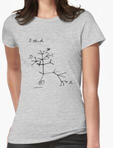 Darwin Tree of Life - I think Womens Fitted T-Shirt