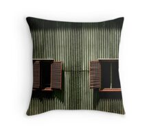 Corrugated Iron and Louvres Throw Pillow