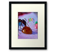 Juicy Framed Print