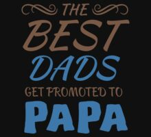 The Best Dads Get Promoted To Papa - Tshirts & Hoodies T-Shirt