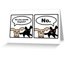 Stoned Bunnies - Do you speak English? No. Greeting Card