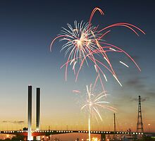 Docklands Fireworks by Stephen McMillan