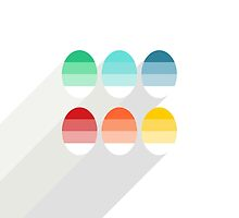 colorful striped eggs by demonique