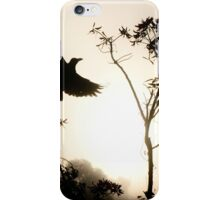 Crow in morning light iPhone Case/Skin