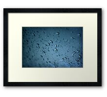 crying in the rain Framed Print