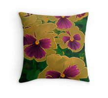 The enchantment of pansies Throw Pillow