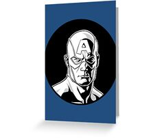 Captain America Icon Image Greeting Card