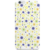 Floral shape pattern - white iPhone Case/Skin