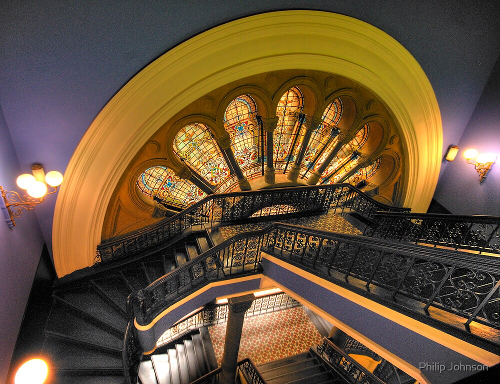 """The Grand Staircase - A Different Angle"" - The Queen Victoria Building, Sydney - The HDR Experience by Philip Johnson"