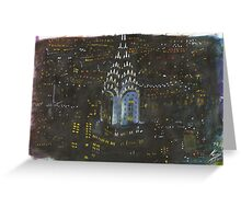 New York, Chrysler Building Greeting Card