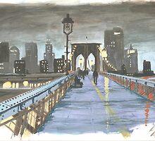 New York, Brooklyn Bridge by karentolson