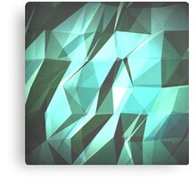 Abstract Green Geometry Canvas Print