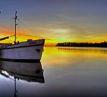 Boat & Sunrise by sautio