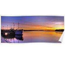 Boat panoramic Poster