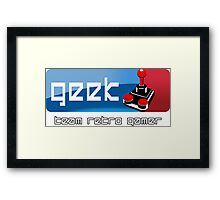 Geek Team Retro Gamer Framed Print