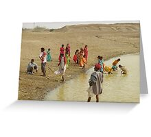 Bathers, Rajasthan Greeting Card