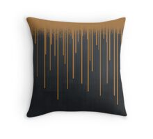 DROPS / copper Throw Pillow