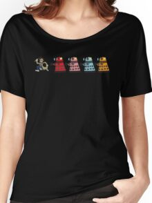 Doctor Who stuck in pac man Women's Relaxed Fit T-Shirt
