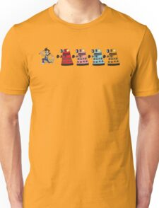 Doctor Who stuck in pac man Unisex T-Shirt