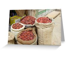 Chillies, India Greeting Card