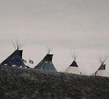 Crow Indian tepees  by Chris Jorgensen