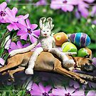 """""""Held captive by the easter bunny"""" - or - """"Happy Easter"""" !  by Bine"""