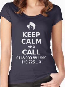 Keep Calm and Call 0118 999 881 999 119 725... Women's Fitted Scoop T-Shirt