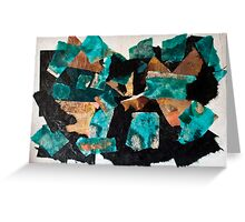 Black Sea, Broken Sky and Mountains Greeting Card