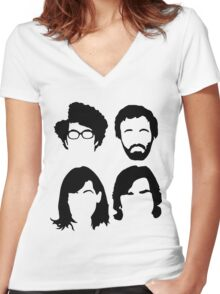The IT Crowd hair Women's Fitted V-Neck T-Shirt