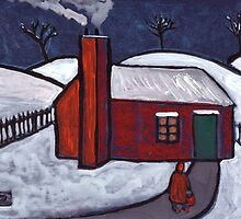 Little Red House Snowscene by sword