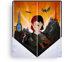 The Shepard and The Hawke Canvas Print