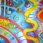 Attack of the Killer Spirals. Media: Acrylic. 2007 by creativeborn