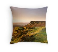 Sunrise Over Higger Tor Throw Pillow