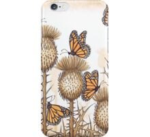 Monarch Butterflies and Spear Thistles iPhone Case/Skin