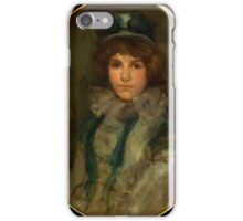 James Abbott McNeill Whistler - Blue and Coral The Little Blue Bonnet iPhone Case/Skin